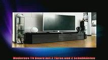 NEUES PRODUKT Zum Kaufen  TV Board Lowboard La Paz in Schwarz Hochglanz  Schwarz metallic Hochglanz  Schwarz