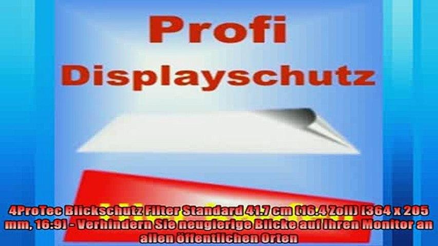BESTE PRODUKT Zum Kaufen  4ProTec Blickschutz Filter Standard 417 cm 164 Zoll 364 x 205 mm 169  Verhindern