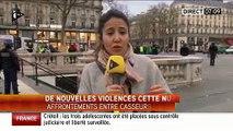 Nuit debout: Nouveaux affrontements violents toute la nuit à Paris entre manifestants et CRS