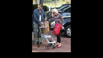 Tori Spelling and Dean McDermott leaving Malibu Park after spending the afternoon wit