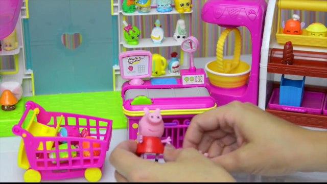 Peppa Pig Video - Peppa and George go Shopkin Shopping 2015 - Kids Toys Story