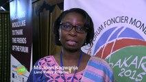 2015 Global Land Forum: Joan Kagwanja, Land Policy Initiative