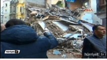 Turkey Building Collapse 5 Story building collapses in Taksim Turkey Istanbul VIDEO