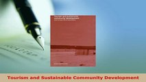 PDF  Tourism and Sustainable Community Development Read Full Ebook