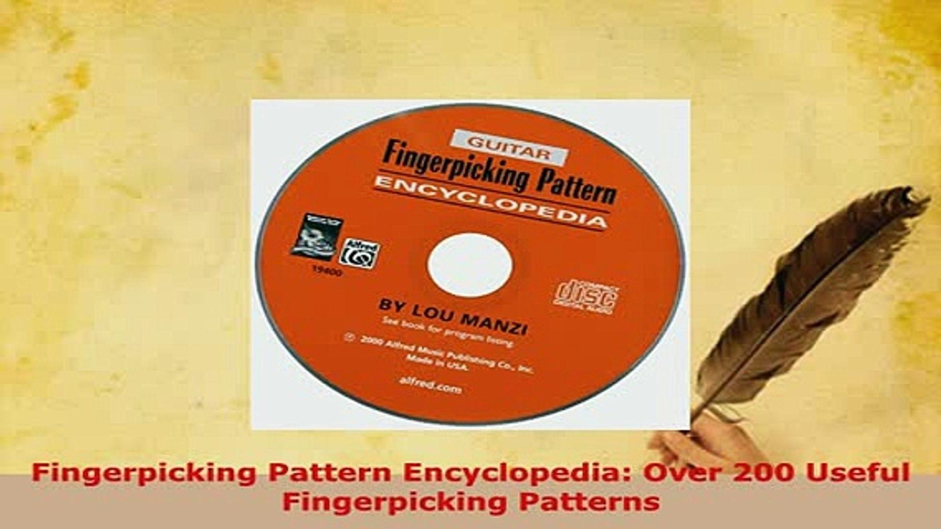 PDF Fingerpicking Pattern Encyclopedia Over 200 Useful Fingerpicking  Patterns Read Full Ebook