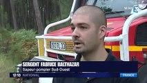 Incendie en Gironde  600 pompiers toujours mobilisés