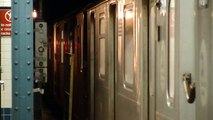 IRT Nostrand Ave Line: R142A 4 Train at Brooklyn College-Flatbush Ave (Weekend)