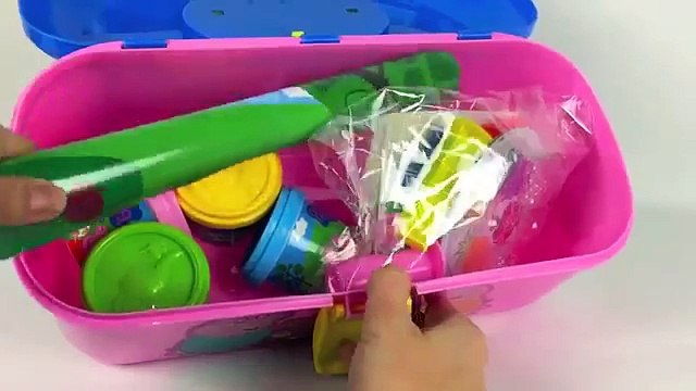 ☺Peppa Pig Picnic PlayDough Shapes and Fruit PlaySet Peppa's Picnic Set with Play Doh To