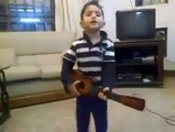 cute kid singing a indian song wow so cute best video ever.