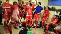 Derby FC Mulhouse - Saint-Louis/Neuweg - Dans les vestiaires, la joie des Ludoviciens