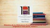 PDF  Histoire de la littérature francoontarienne des origines à nos jours tome 1  Read Online