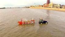 RNLI Blackpool Launching of the Atlantic 85 Filmed With Drone - DJI Phantom GoPro Hero3