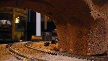 St Marys Railroad museum N scale in desert dual trains