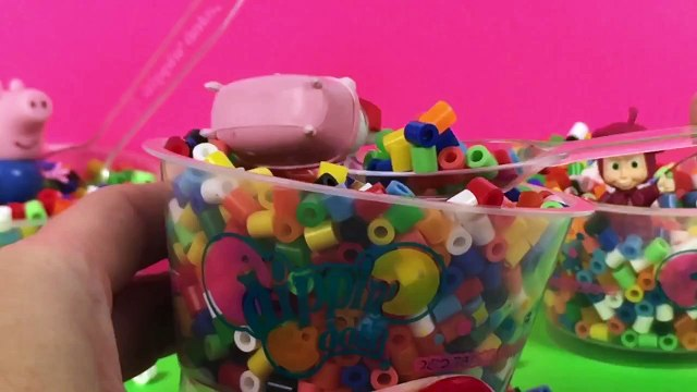 Rainbow Dippin' Dots Surprise Toys Hello Kitty Peppa Pig Masha i Medved Toy Videos Part 7