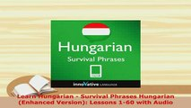 PDF  Learn Hungarian  Survival Phrases Hungarian Enhanced Version Lessons 160 with Audio Download Online