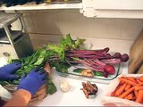 French sorrel Beet Carrot juice made on a Whole Health Foundation juicer