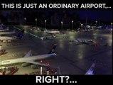Aéroport miniature plus vrai que nature avec le concorde, l'A380 et même un Faucon millenium de Star Wars