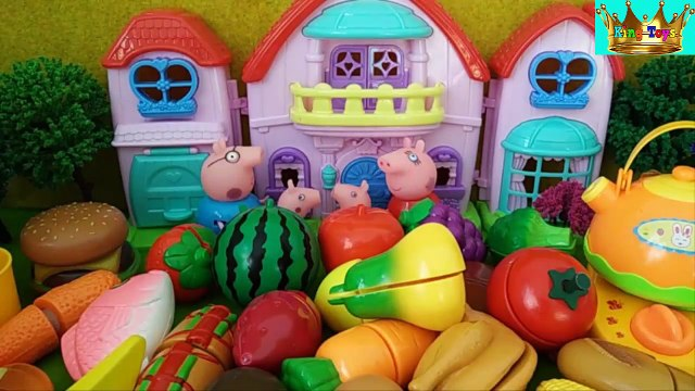Peppa Pig family - Fruits and vegetables