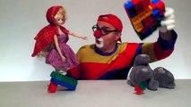 Çocuklar için eğlenceli film - Palyaço Dima - Oyuncak Masha ve Ayı