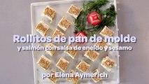 Recetas para #Navidear con Carrefour - Rollitos de pan de molde con salmón