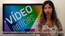 Vídeo Notícias: Espanha apresenta novo uniforme para Copa do Mundo de 2014  - TV ABCD