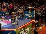 AAA-SinLimite 2009-05-25 Tlaxcala 04 Charly Manson, Rocky Romero & X-Pac vs. La Legion Extranjera
