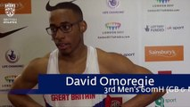David Omoregie said it felt really good to pull on the British vest
