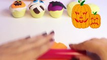 Halloween Play Doh Cupcakes DIY Ghost Pumpkin Witch Mummy How To Make Halloween Crafts Part 6