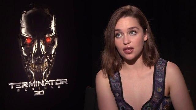 TERMINATOR GENISYS - OFFICIAL MOVIE INTERVIEW:  EMILIA CLARKE (2015) - Arnold Schwarzenegger, Emilia Clarke - Entertainment Movies Film
