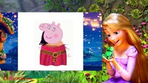 Peppa Pig English Rapunzel Inside Out Coloring Pages For Kids Cartoons 2016 DIY TOYS & GAMES