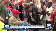 Hundreds gather to welcome back veterans
