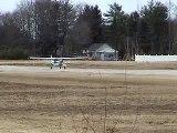 Cessna 172 Heavy Crosswind Takeoff from b19