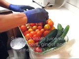 Making 10% more Snappy Tom tomato juice on a WHF juicer. A Norwalk juicer alternative.