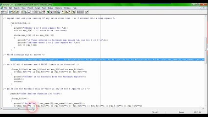 three variables Boolean functions, using the K-map in C + + (3 variables  karnaugh map in c++)
