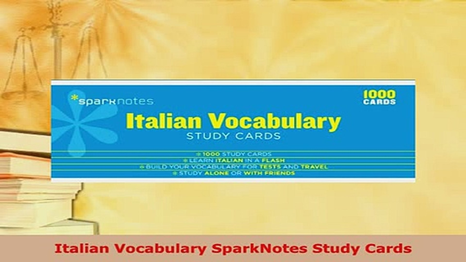 Pdf Italian Vocabulary Sparknotes Study Cards Download