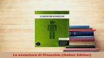 PDF  Le avventure di Pinocchio Italian Edition Download Full Ebook