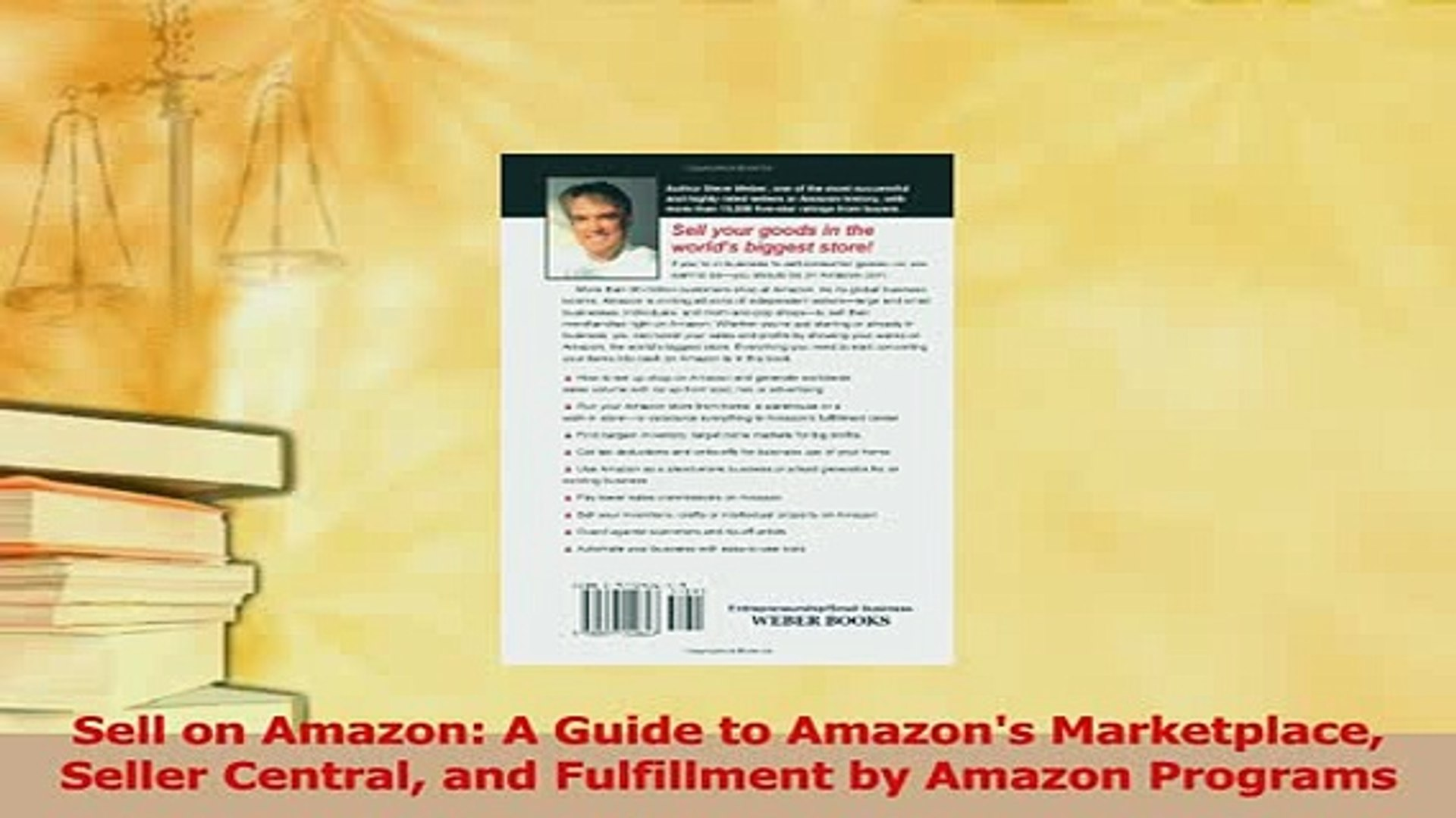 Read  Sell on Amazon A Guide to Amazons Marketplace Seller Central and Fulfillment by Amazon Ebook F