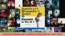 PDF] Absolute Beginner s Guide to Keynote for Mac OS X [Download