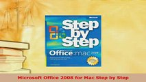 PDF  Microsoft Office 2008 for Mac Step by Step Download Online