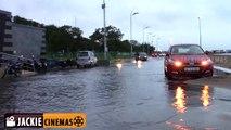 Chennai Marina Beach flooded in Rain 15.11.2015 | Rainy Day