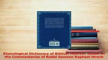 Ebook A Comprehensive Etymological Dictionary of the Hebrew