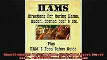 FREE PDF  Hams Directions for Curing Hams Picnic Hams Bacon Corned Beef  with USDA Ham  Food  BOOK ONLINE