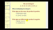 Math Multiplying Integers - The Basics