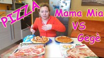 Pizza Mama Mia vs Gegè margherita, pizza surgelata recensione, pizza challenge ita