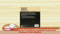 PDF  Mastering Financial Modelling in Microsoft Excel 3rd edn A Practitioners Guide to Download Full Ebook