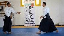 Gyaku Hanmi katate dori Kokyu-ho par lallali slimane