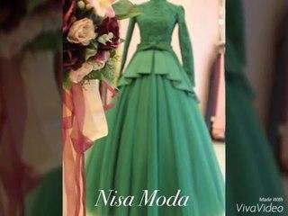 Yeni Sezon Tesettür Nişanlık Zümrüt Yeşili