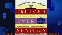 FREE DOWNLOAD  Triumph Over Shyness Conquering Shyness  Social Anxiety  DOWNLOAD ONLINE