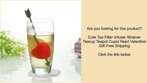 Cute Tea Filter Infuser Strainer Teacup Teapot Cupid Heart Valentine Gift Free Shipping