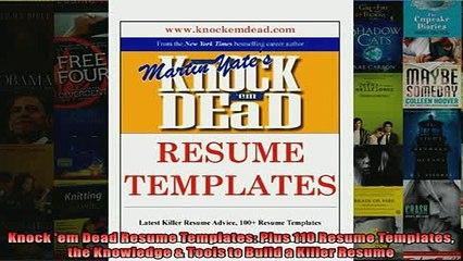 FREE PDF Knock Em Dead Resume Templates Plus 110